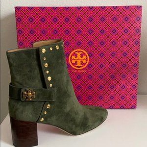 ISO Tory Burch Green Kira Suede Ankle Boots
